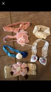 6 baby girls headbands
