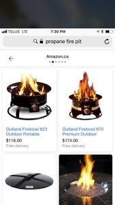 ISO propane fire pit