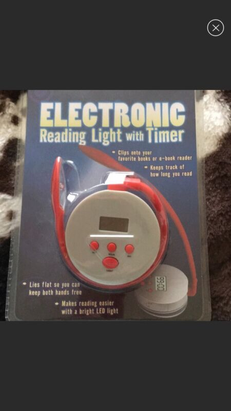 NEW Electronic Reading Light with timer