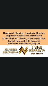 Hardwood, laminated, engineers, vinyl flooring installing  Strathcona County Edmonton Area image 2