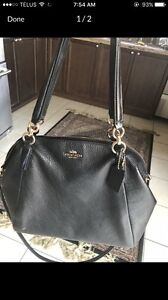 Black letter coach bag