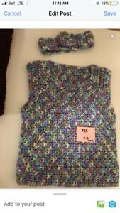 Easter Vest and Headband
