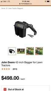 John Deere 42 inch bagger for lawn tractor