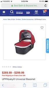 Uppababy Bassinet and FREE stand