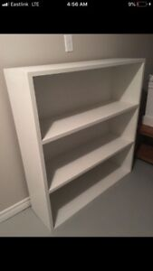 Large white solid wood shelf, very heavy!!