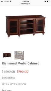 Bombay media cabinet,like brand new condition