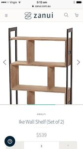 Ike wall bookcase  by Almafi - new $250 Enmore Marrickville Area Preview