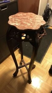 Wooden Marble top stand