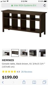 IKEA Hemnes Console Table in black/brown
