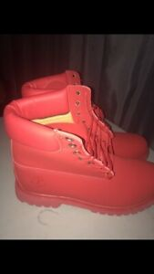 Triple Red Timberland Used