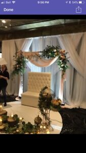 Wedding rental  service with set up and take down.,