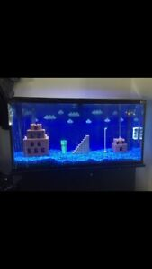 70 gallon  fish  tank  with cabinet