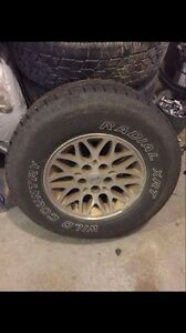 """Wild Country tires on 17"""" Jeep Grand Cherokee Rims"""