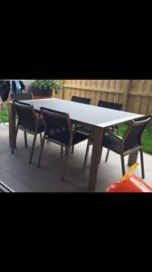 Outdoor dining table with 6 chairs Lane Cove Lane Cove Area Preview