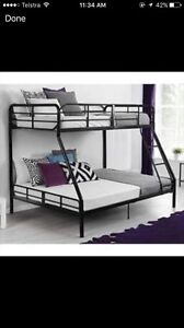 Wanted bunk bed single on top double on bottom Risdon Vale Clarence Area Preview
