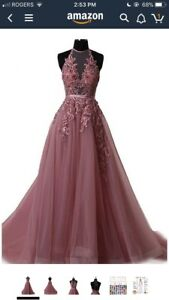 Brand new plum coloured princess dress with tulle- prom/grad etc