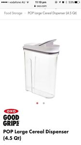 OXO cereal dispenser 4.2L Seven Hills Brisbane South East Preview