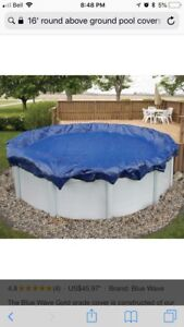 15'/16' round cover for above ground pool