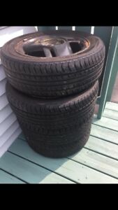 Set of 4 205/55 R16 on rims