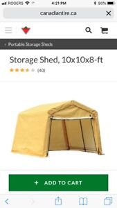 NEW IN BOX storage shed 10x10x8
