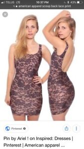 American apparel lace bodycon dress