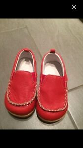 Toddler leather loafers- never worn - size 27