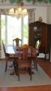 Antique Table & Cabinet