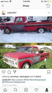 1965 f100 for sale  does not run!