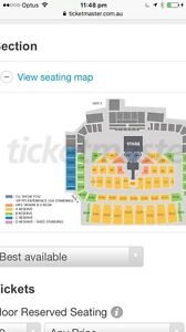 Justin Bieber tickets x 2 Section C6 East Perth Perth City Area Preview