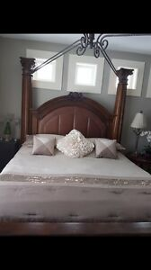 Stunning King Bed and Armoire