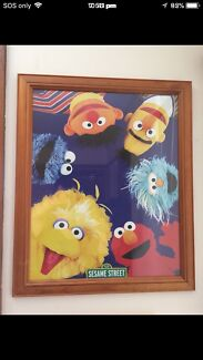 Sesame Street picture frame in excellent condition $20