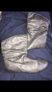 Grey Ankle Boots, Size 9