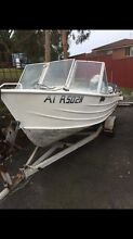 15 foot aluminium tinny plus 25HP Honda Outboard and trailer with rego Charlestown Lake Macquarie Area Preview