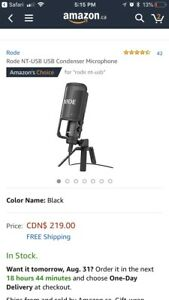 NT USB Condenser microphone NEW