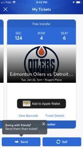 Oilers Detroit tickets