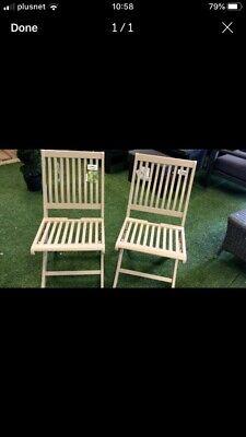 Hartman Fold Garden Chairs X 2