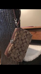 Authentic Coach Wristlets/ Clutch