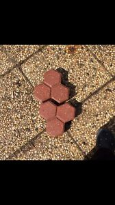 Honeycomb shaped paving stones