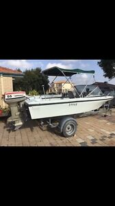 16ft Boat With Trailer (REGISTERED) Ballajura Swan Area Preview