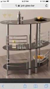 Glass and Chrome Display Shelf