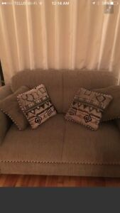 Couch and loveseat set. Mint.