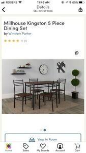 BRAND NEW IN BOX! 5 piece dining table set
