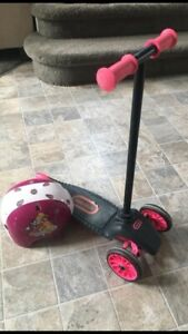 Little tikes scooter and princess bike helmet