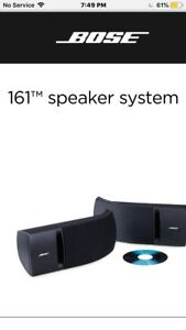 Bose 161 speakers for sale @$120 for pair