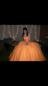 Orange prom dress size 2