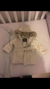 Gold Old Navy fall/winter jacket 6-12 months