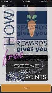 Free cineplex movies and points