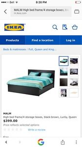 Queen Malm bed frame