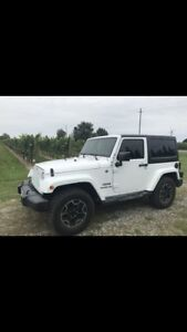 Jeep Wrangler with lots of upgrades