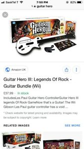 LOOKING FOR GUITAR HERO FOR WII